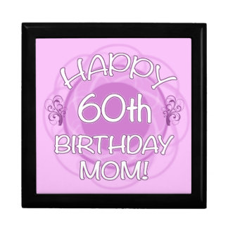 60th Birthday For Mom Large Square Gift Box