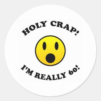 60th Birthday Gag Gifts Classic Round Sticker