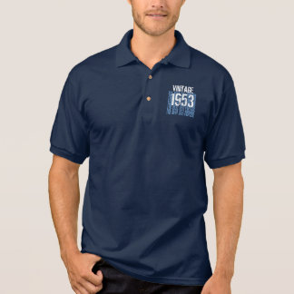60th Birthday Gift Best 1953 Vintage Blue V004 Polo Shirt