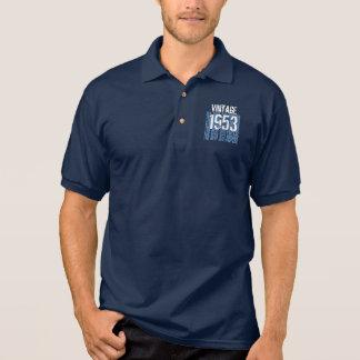 60th Birthday Gift Best 1953 Vintage Blue V004 Polo Shirt