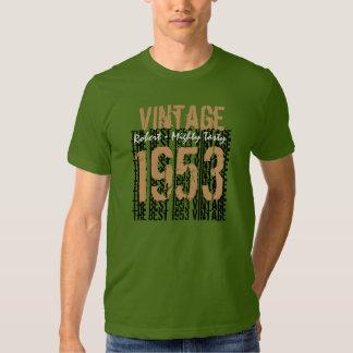 60th Birthday Gift Best 1953 Vintage Tee Shirts