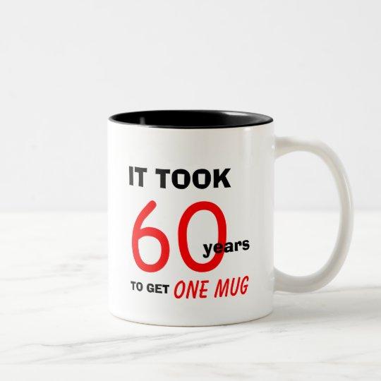 60th Birthday Gifts for Men Mug - Funny