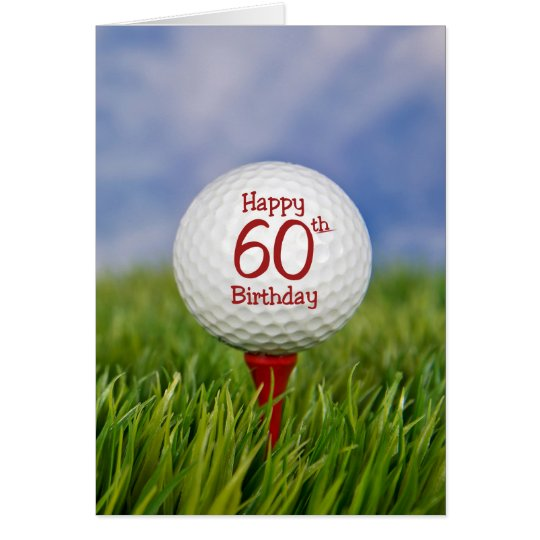 60th Birthday Golf Ball Card