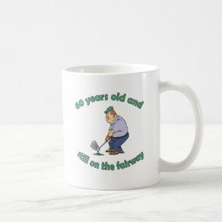 60th Birthday Golfer Gag Gift Basic White Mug