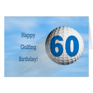 60th birthday golfing card