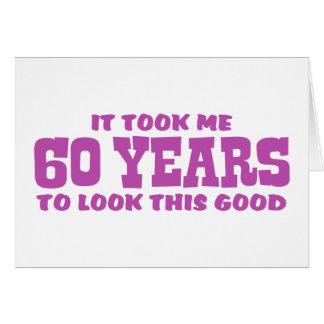 60th Birthday Greeting Card