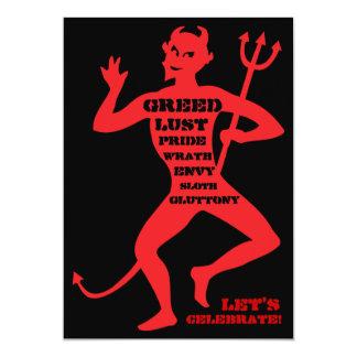 60th Birthday - Hell of a Party 13 Cm X 18 Cm Invitation Card