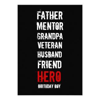 60th Birthday Hero Party Invitation