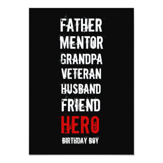 60th Birthday Hero Party Invitation