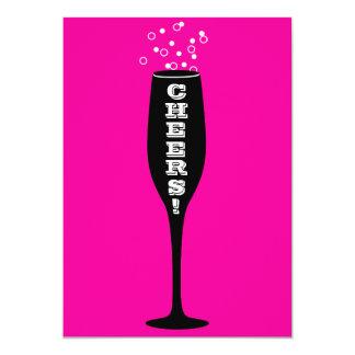 60th Birthday Invitation - champagne toast!