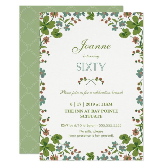 Teddy bear picnic invitations announcements zazzle 60th birthday invitation sixtieth vintage style card stopboris Gallery