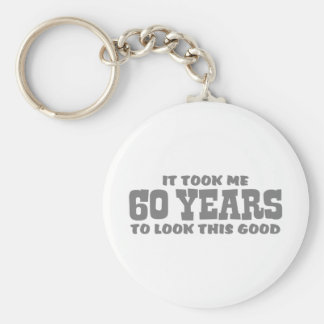 60th Birthday Key Ring