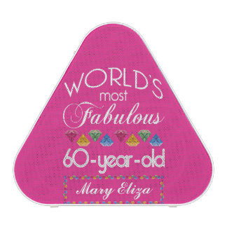 60th Birthday Most Fabulous Colorful Gems Pink