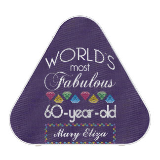 60th Birthday Most Fabulous Colorful Gems Purple