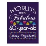 60th Birthday Most Fabulous Colourful Gems Purple