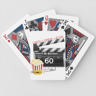 60th Birthday Movie Theme Bicycle Playing Cards