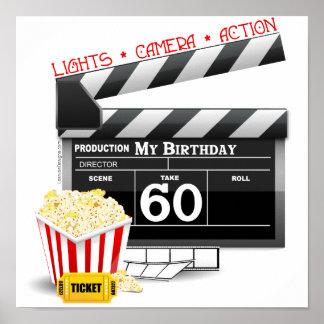 60th Birthday Movie Theme Posters