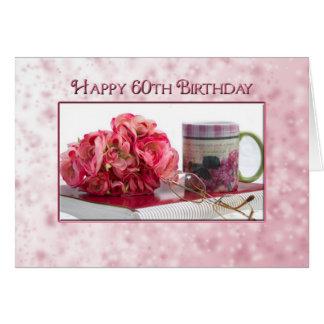 60th Birthday - Mug and Roses Card