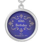 60th Birthday Necklace - Vintage Frame Pendant