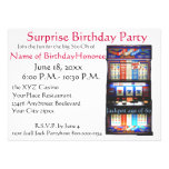 60th Birthday Party Casino Slot Machine Custom Invitation