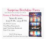 60th Birthday Party Casino Slot Machine Custom Announcements