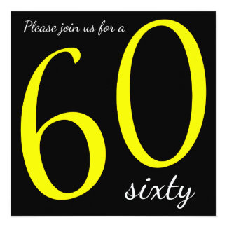 60th Birthday Party  | DIY Text 13 Cm X 13 Cm Square Invitation Card