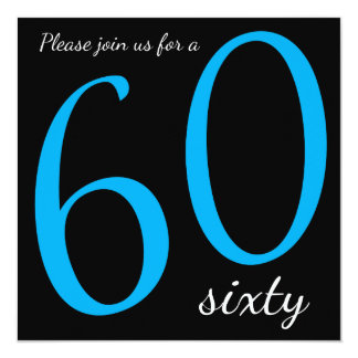 60th Birthday Party  | DIY Text 13 Cm X 13 Cm Square Invitation Card