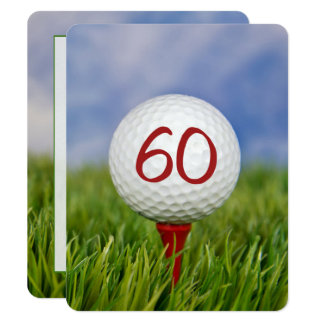 60th Birthday Party Golf theme Card