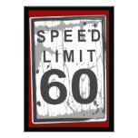 60th Birthday Party Grungy Speed Limit Sign
