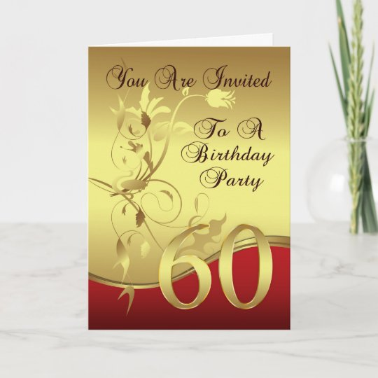 60th Birthday Party Invitation Card