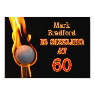 60th Birthday Party Invitation - Golf - Sizzling!