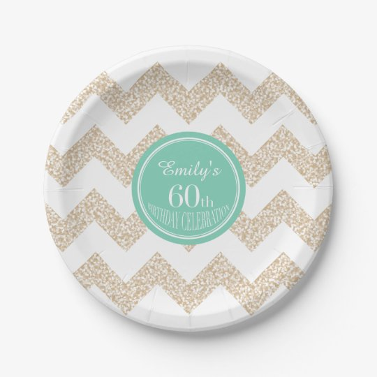 60th Birthday Party Paper Plates - Choose Colour
