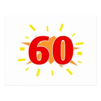 60th Birthday Party Presents Postcard