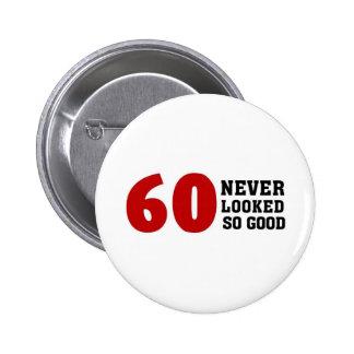 60th Birthday Pinback Button