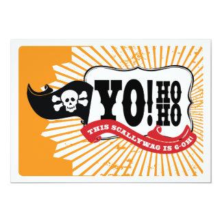 60th Birthday Pirate Party Invitations - Yo Ho Ho
