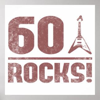60th Birthday Rocks Posters