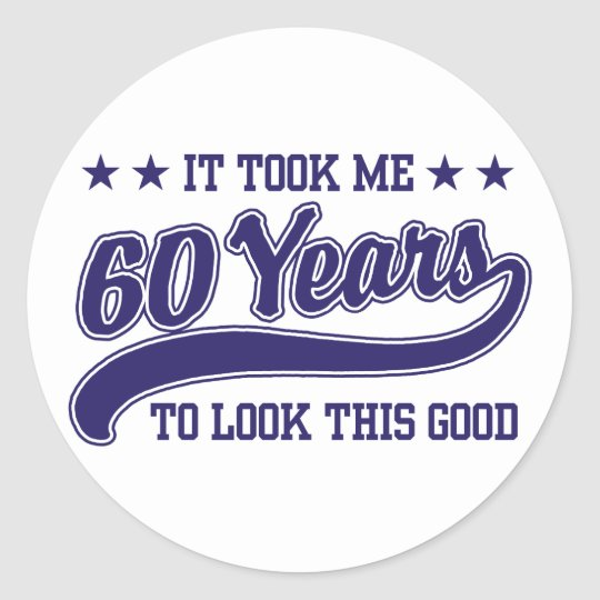 60th Birthday Round Sticker
