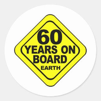 60th Birthday Round Sticker