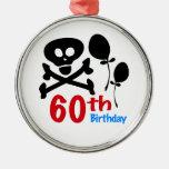 60th Birthday Skull Crossbones