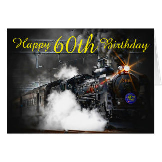 60th Birthday Steam train card