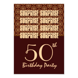 60th Birthday Surprise Party Chocolate and Coffee Invitation