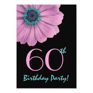 60th Birthday Template - Pink Daisy