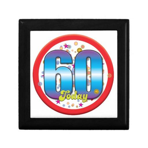 60th Birthday Today v2 Trinket Boxes