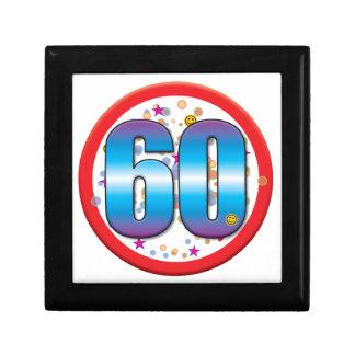 60th Birthday v2 Small Square Gift Box