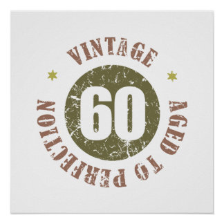 60th Birthday Vintage Poster