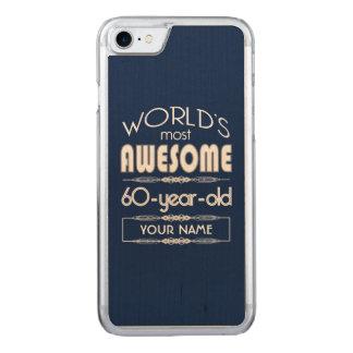 60th Birthday Worlds Best Fabulous Dark Blue Carved iPhone 7 Case