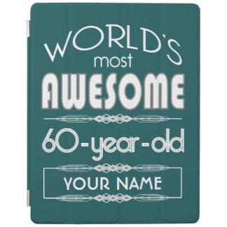 60th Birthday Worlds Best Fabulous Dark Green iPad Cover