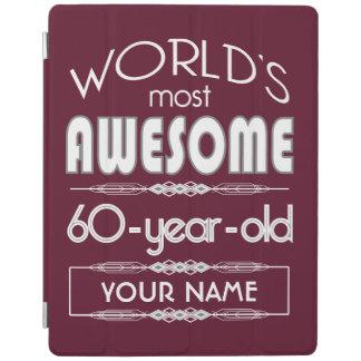60th Birthday Worlds Best Fabulous Dark Red iPad Cover