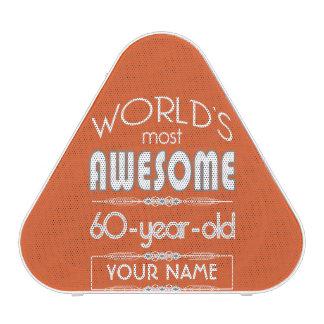 60th Birthday Worlds Best Fabulous Flame Orange