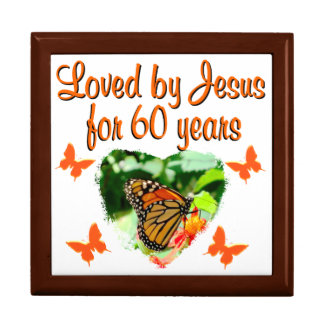 60TH BUTTERFLY BIRTHDAY DESIGN LARGE SQUARE GIFT BOX